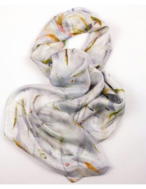 """""""Vel de núvia blanc"""" fulard de seda elegant"""
