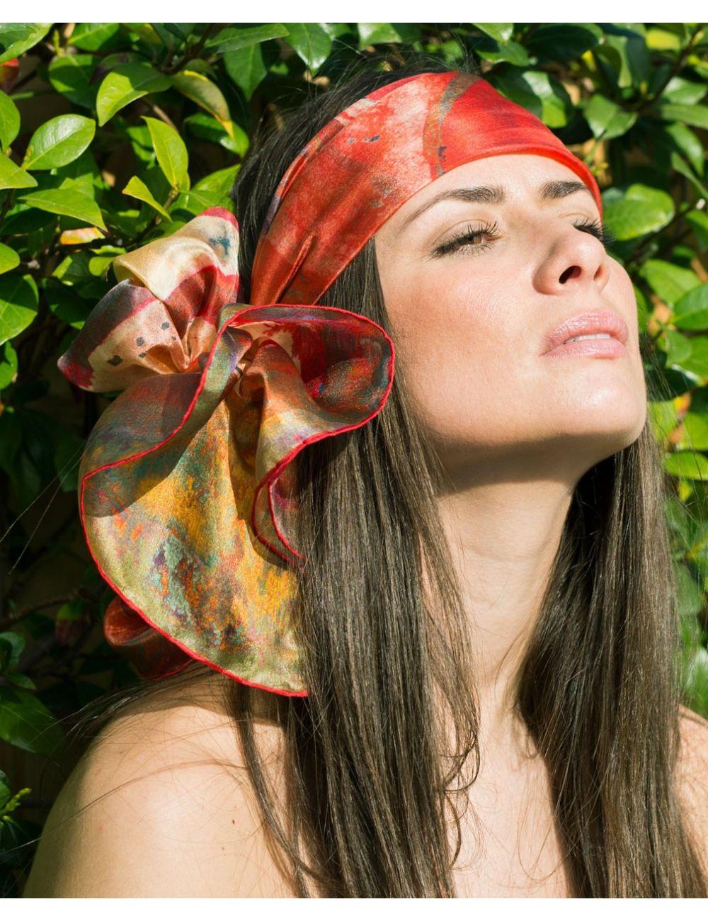 """Fulard de seda """"Rosa Sant Pau Vermella"""""""