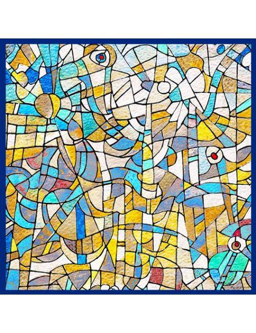 """Silk Square spring """"Blue sky"""""""