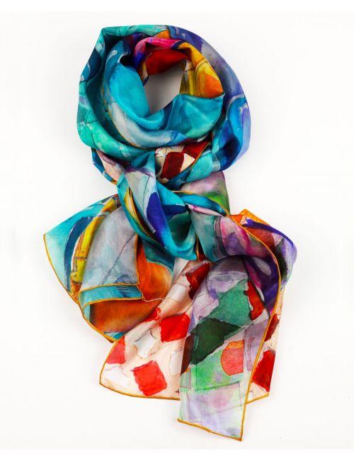 """Silk scarf """"Batllo Scales"""""""