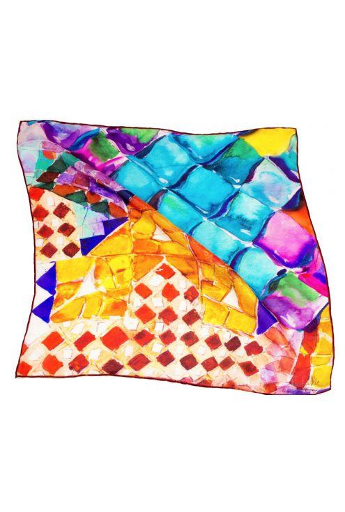 "Silk Square spring ""Gaudi Scales"""