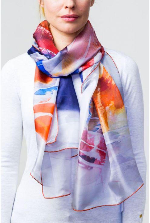 "Silk scarf ""Afternoon Tea 2017"""