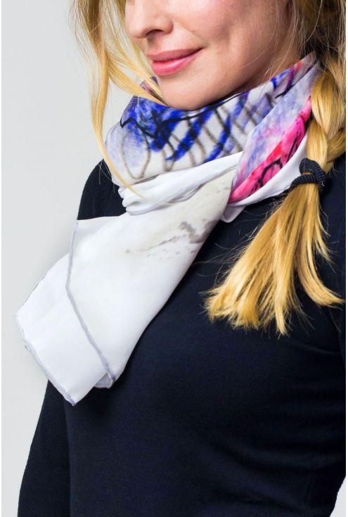 "Crepe Chine Silk scarf ""Boc París"""