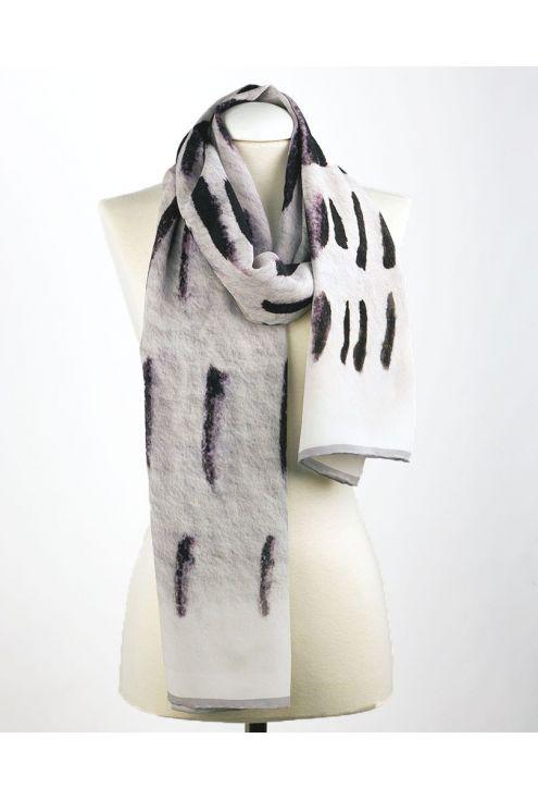 "Crepe Chine Silk scarf ""Light Path"""