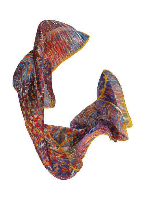 """San Juan Fire P"" silk scarf"
