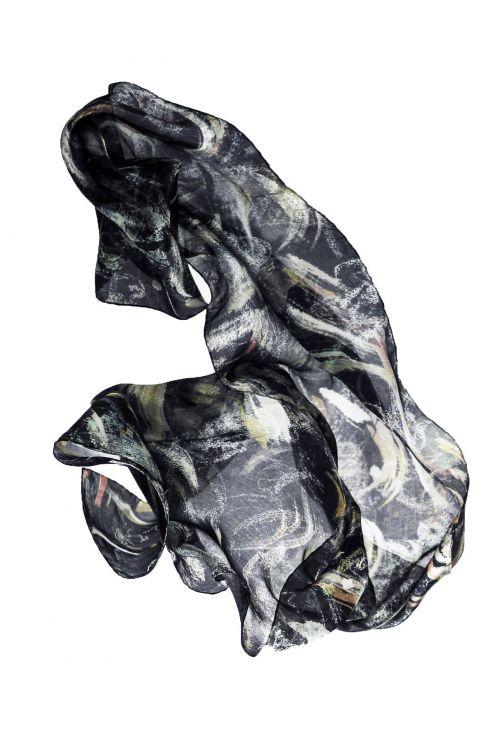 Vel de núvia. Daring, passional, elegant natural silk scarf!