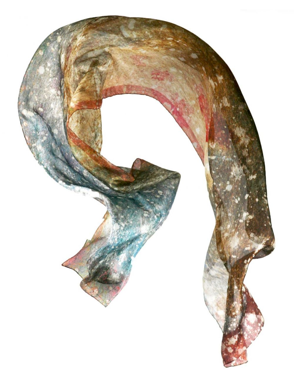 "Silk scarf ""Cosmic dust"""