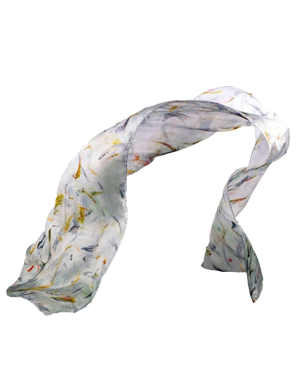 """White wedding veil"" elegant silk scarf"