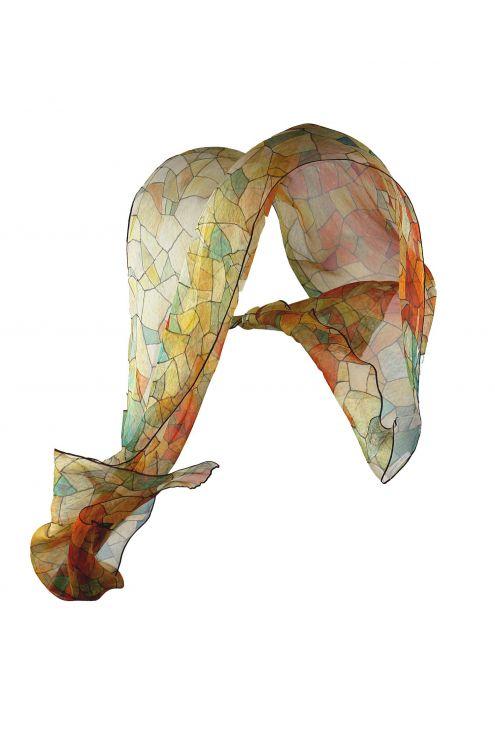 "Chiffon Silk scarf ""Heaven & Earth"""