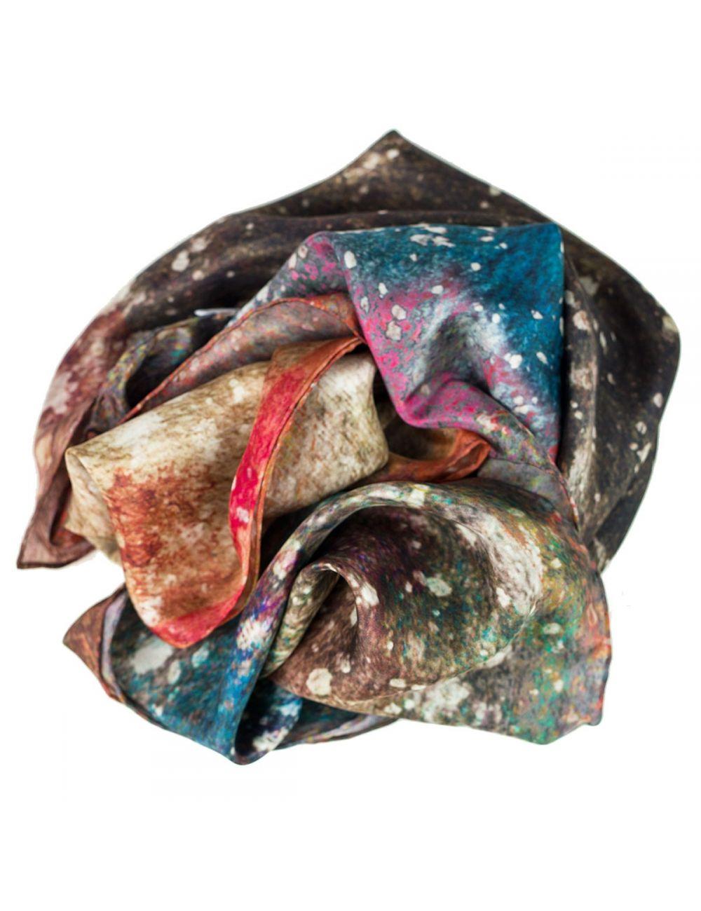 a45da20148b Extra long silk scarf for men. Elegant galaxy print | Dabadisseny.com