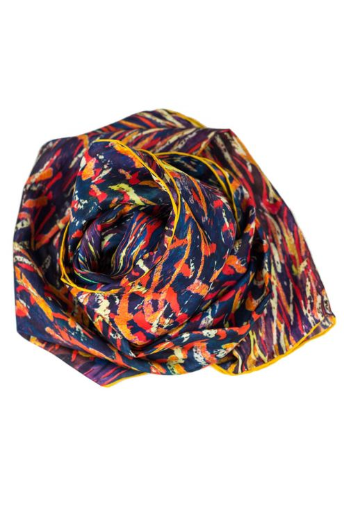 "Men's silk scarf ""Fire"""