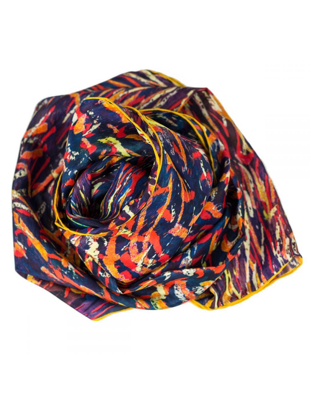 "Men's silk scarf ""Fire"""