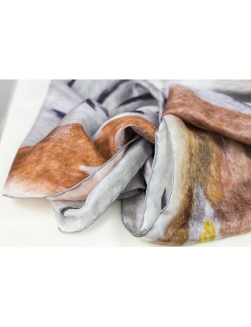 "Men's silk scarf ""Light Path"" XL"