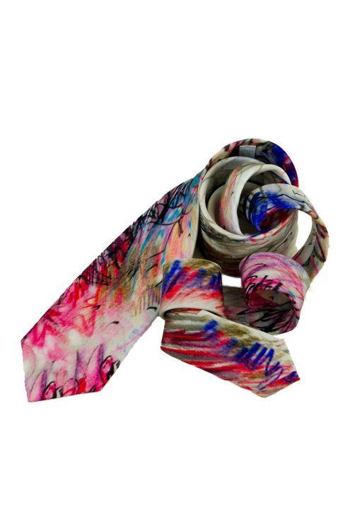 Silk Tie Boc de París, exclusive design with a creative pattern