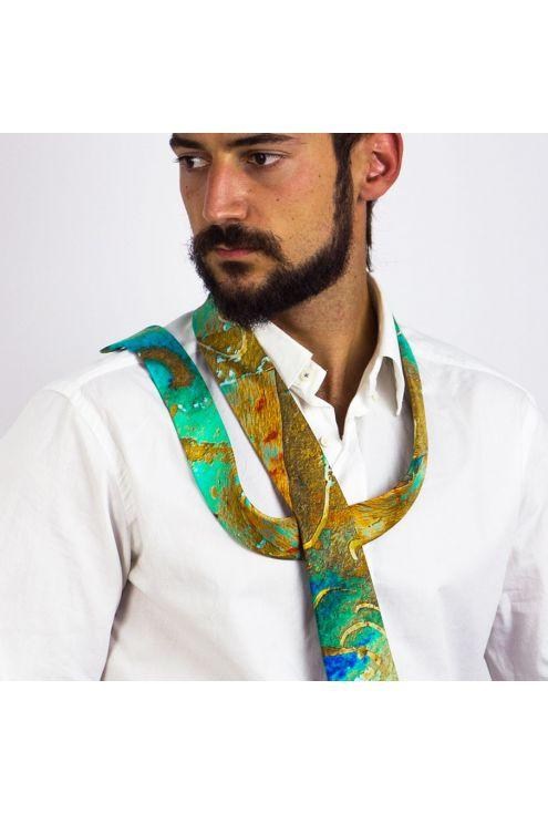 Silk Tie Marine Oxide G, exclusive design for the traveler man