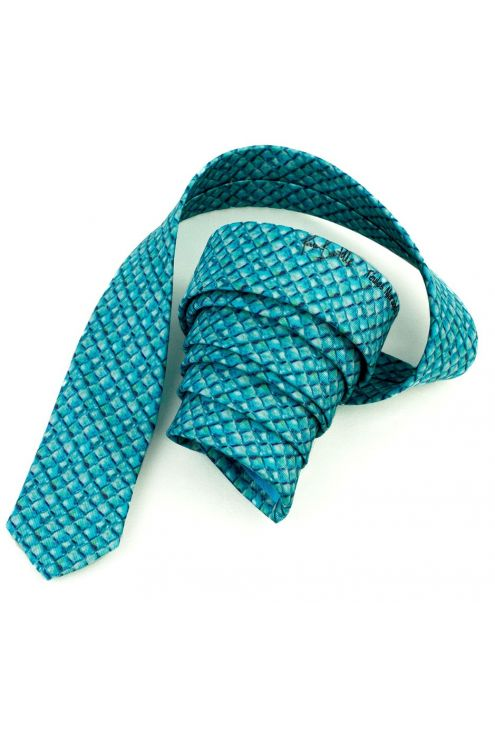 "Silk tie ""Dragon Scales"""