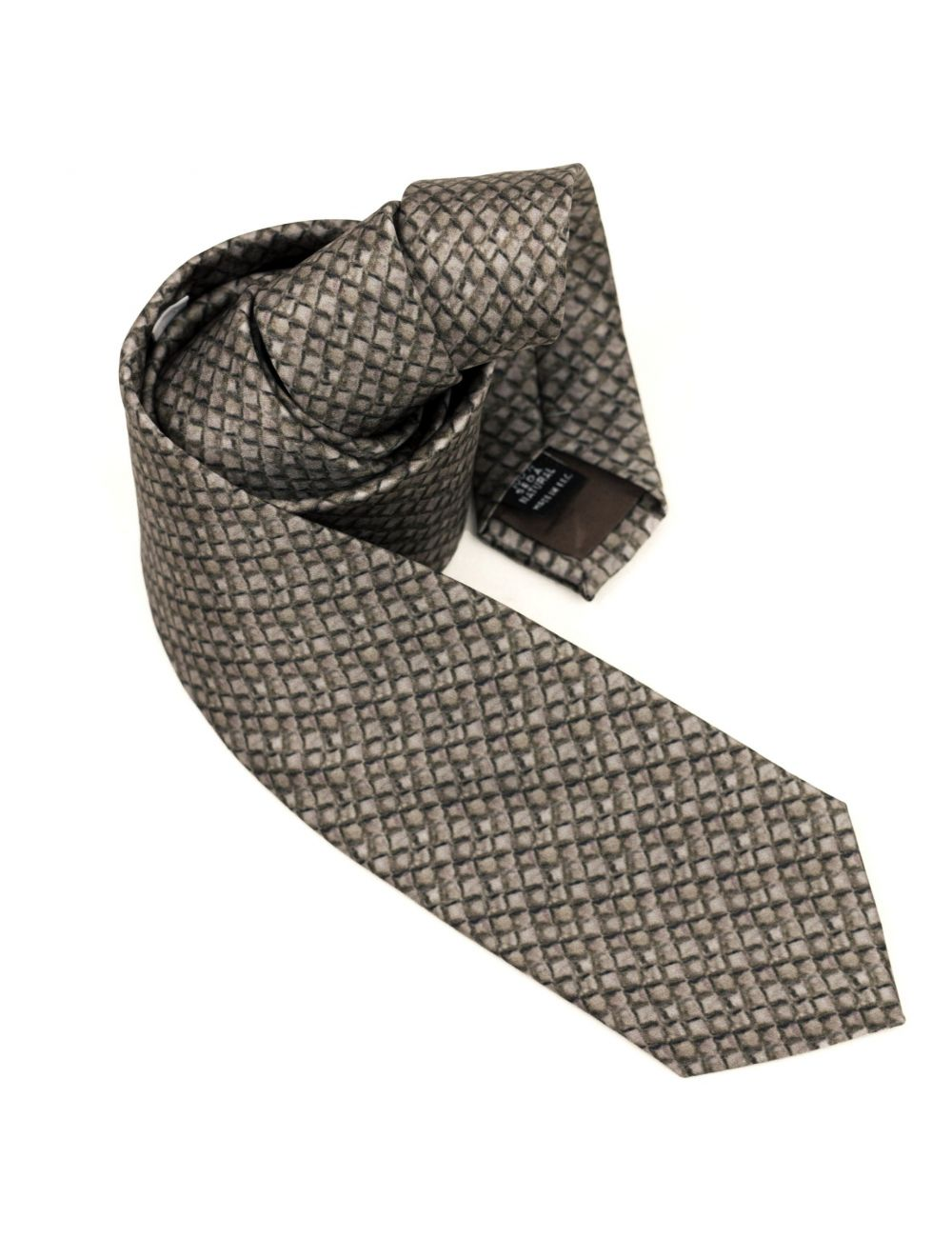 """Dragon Scales"" Silk twill tie"