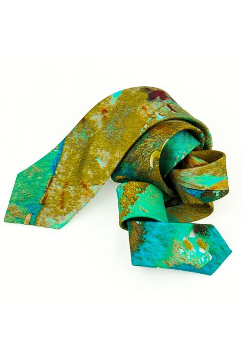 Silk Tie Marine Oxide G, exclusive design for the traveler man