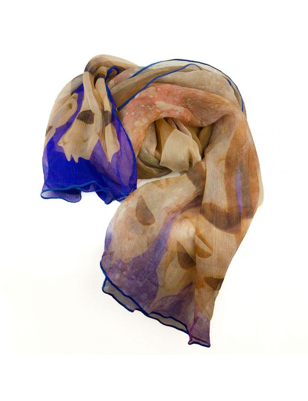 "Chiffon Silk scarf ""Gaudí Warriors"""