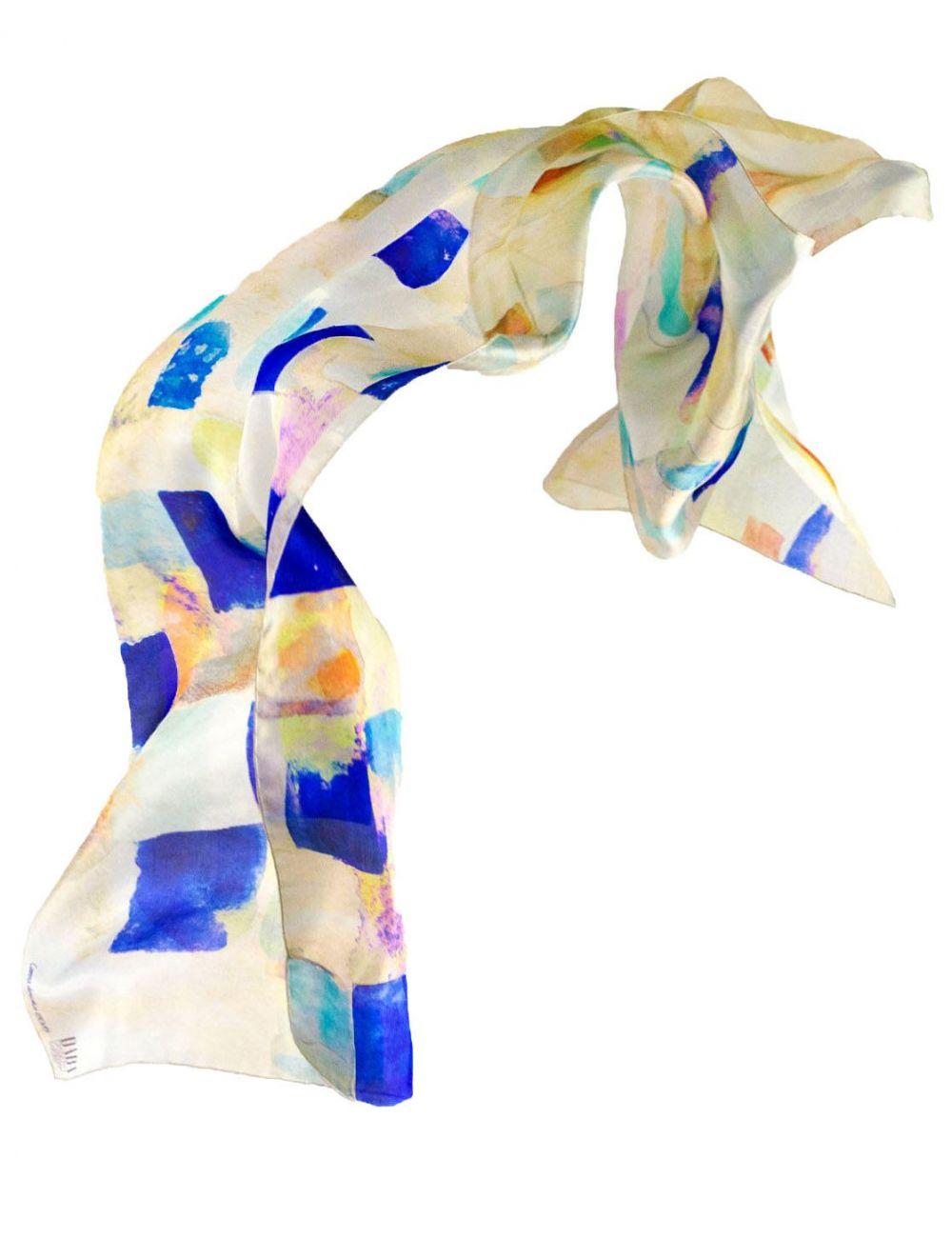 "Silk scarf ""Barefoot Gaudi"""