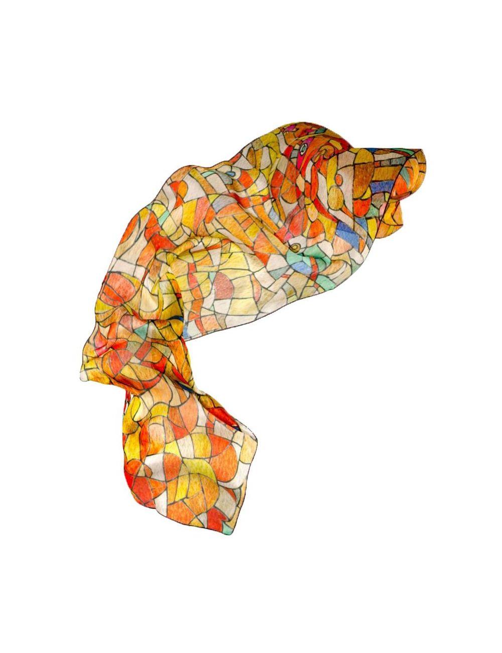 "Fulard ""Vitrall de llum"""