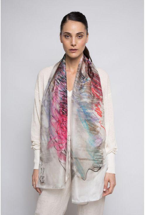 Boc de París, fular de seda natural disseny modern i actual