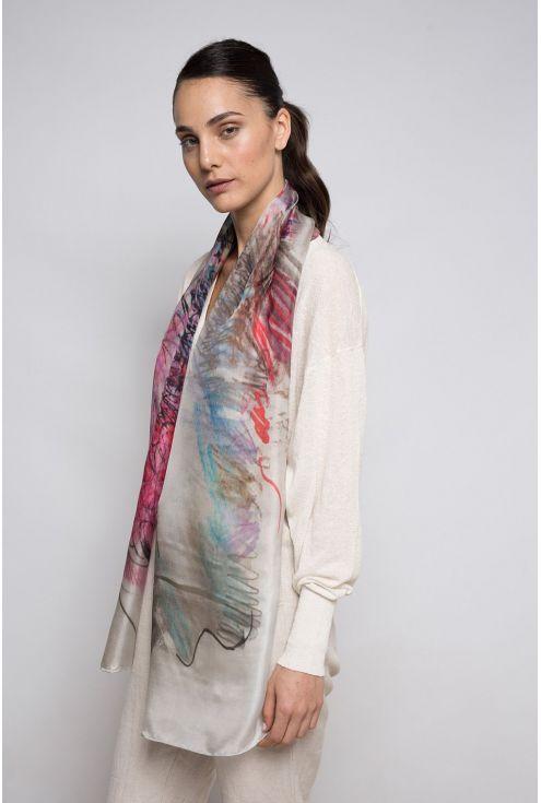 """Boc de Paris"" silk scarf - elegant and stylish"