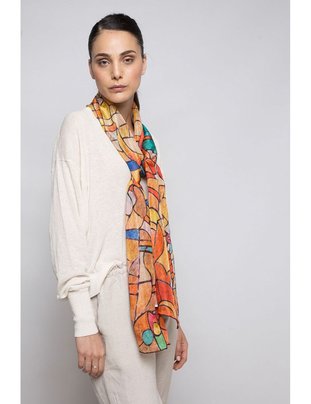 """Silk Scarf """"Stained glass..."""