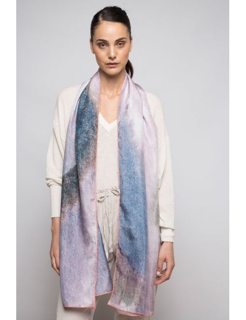 "Extra large Silk Scarf ""Quiet Breeze"""
