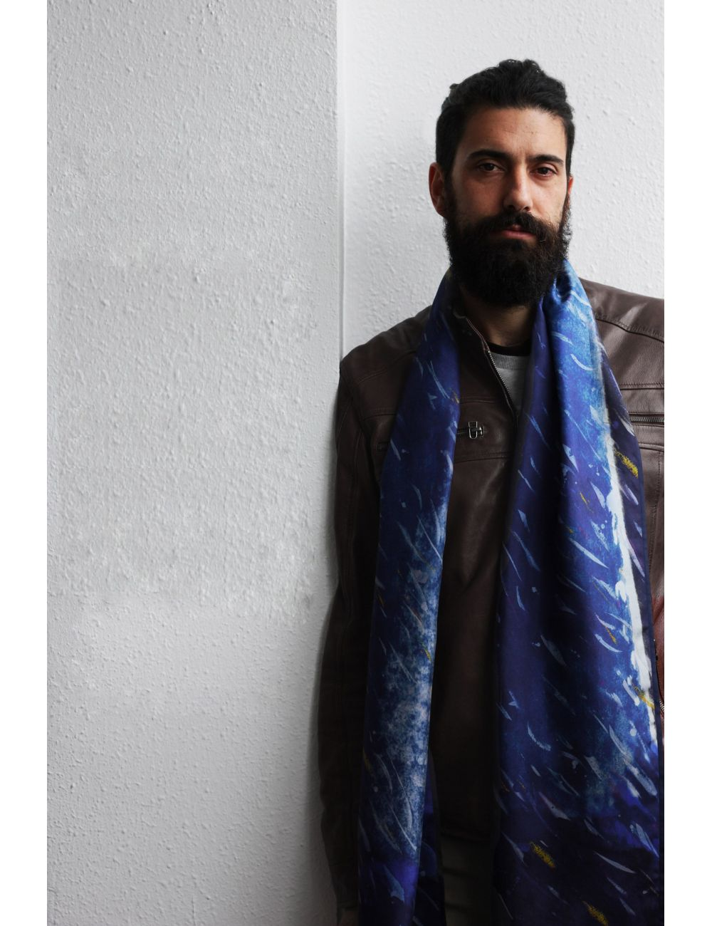 Man silk scarf