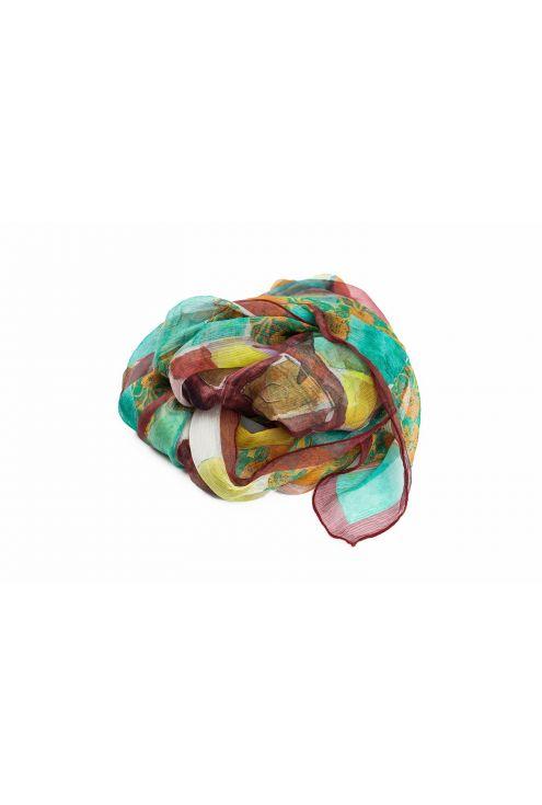 "Chiffon Silk Scarf ""Gaudi's Look"""