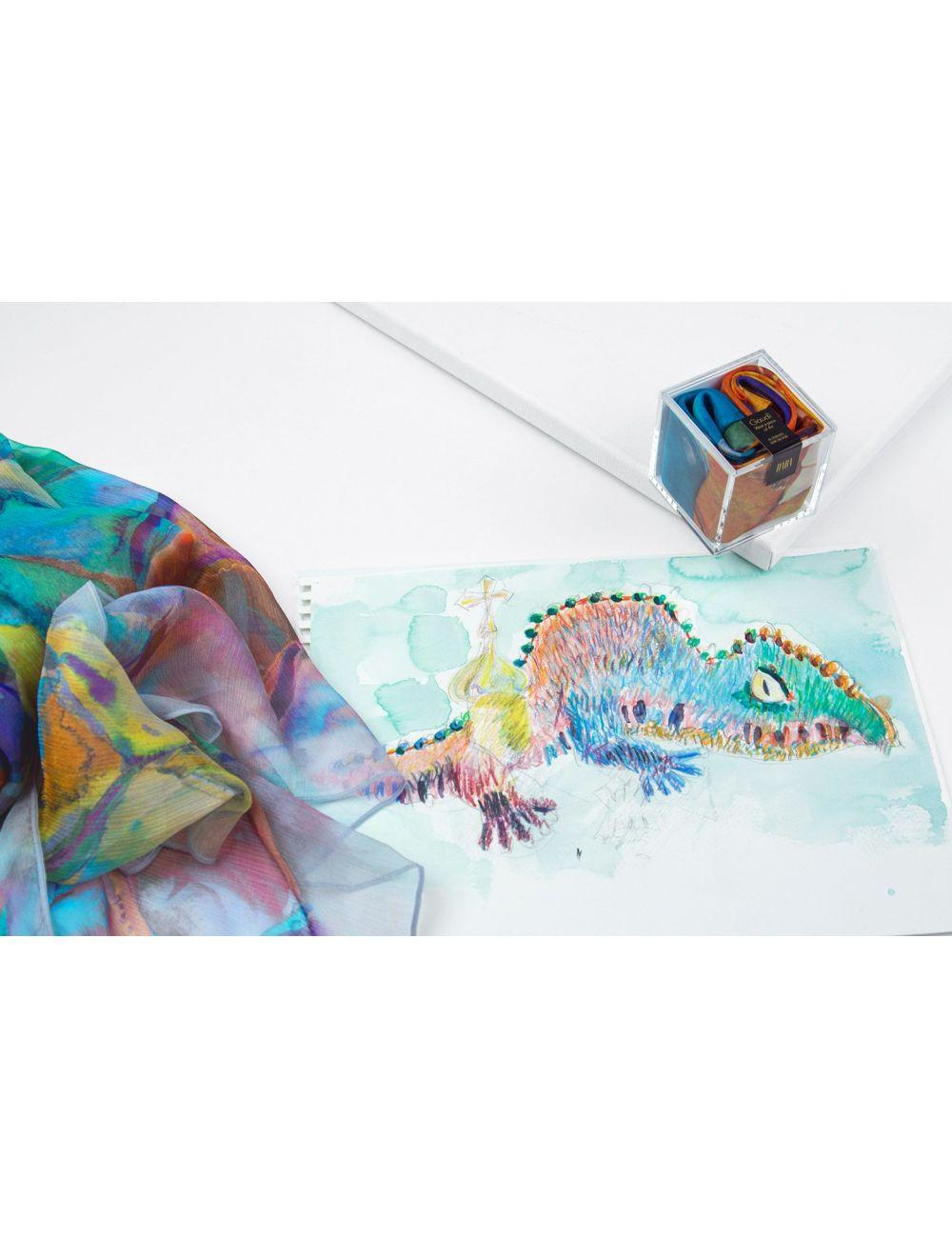 Inspiració del disseny en llapis de colors
