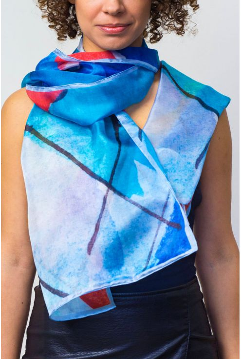 """Old Port"" silk scarf - original and joyful"