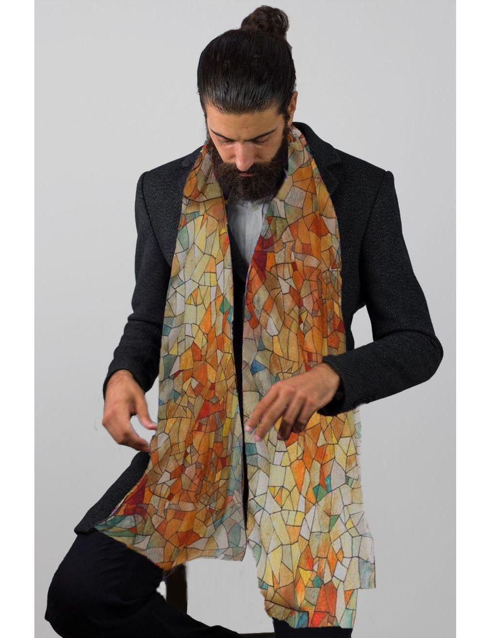 """Men Silk scarf """"Heaven &..."""