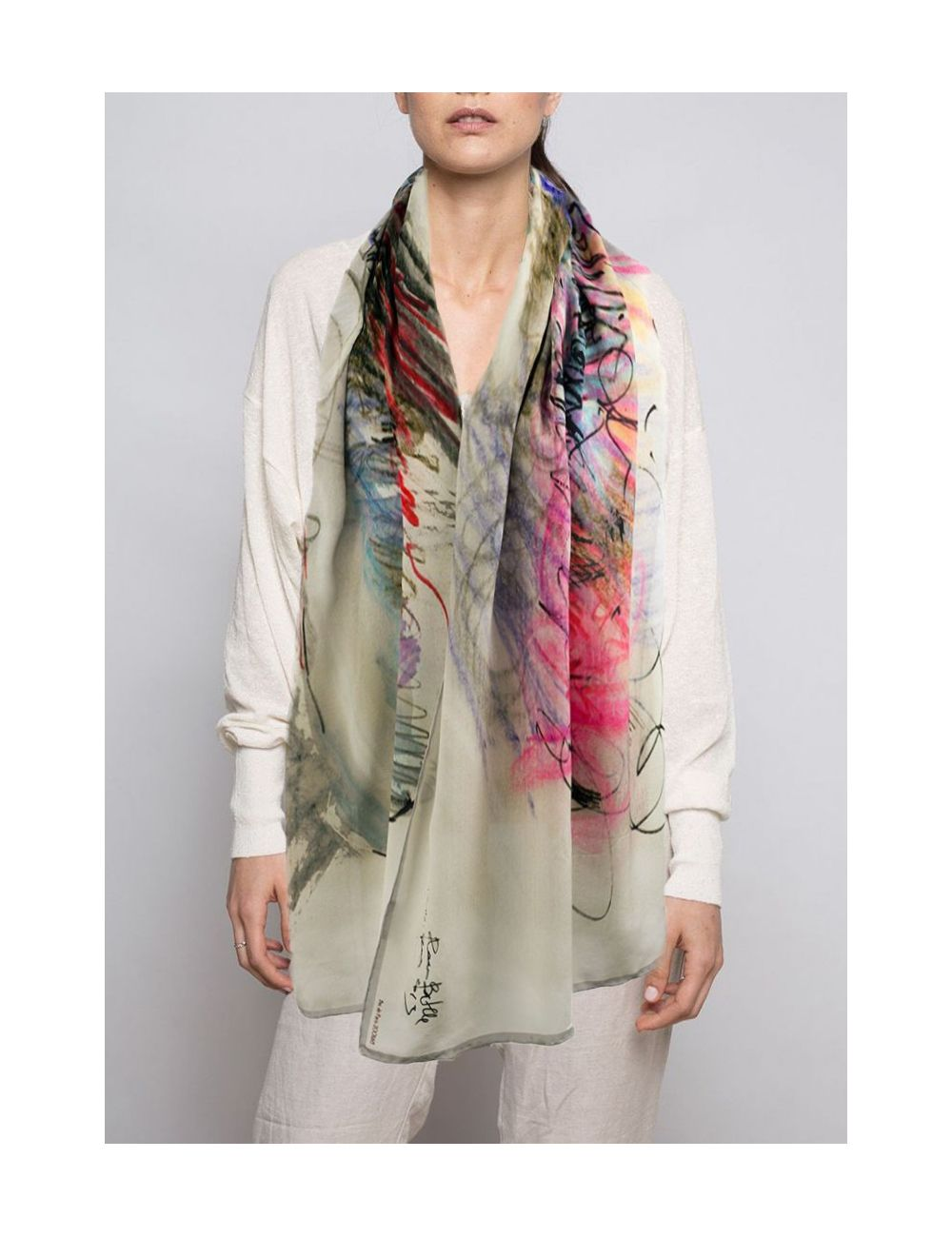 Crepe Chine Silk scarf