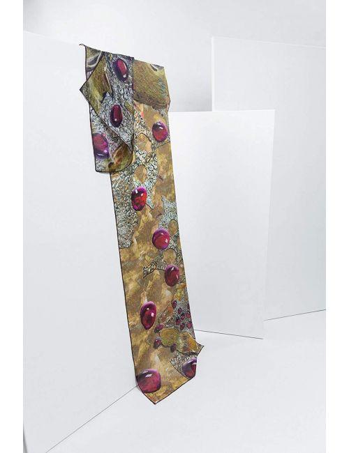 "Silk scarf ""Pomegranate heart"""