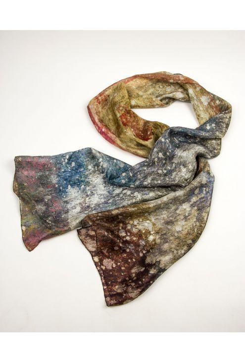 "Silk scarf ""Cosmic Dust"", dare to wear the entire Universe around your neck!"