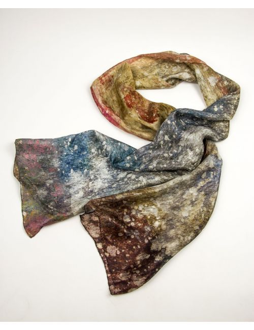 """Silk scarf """"Cosmic Dust"""", dare to wear the entire Universe around your neck!"""