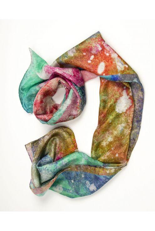 """""""Fúcsia Paradís"""" fulard de seda en colors vius i alegres"""