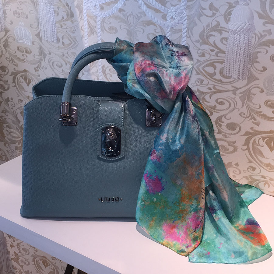 silk scarves and handbags match