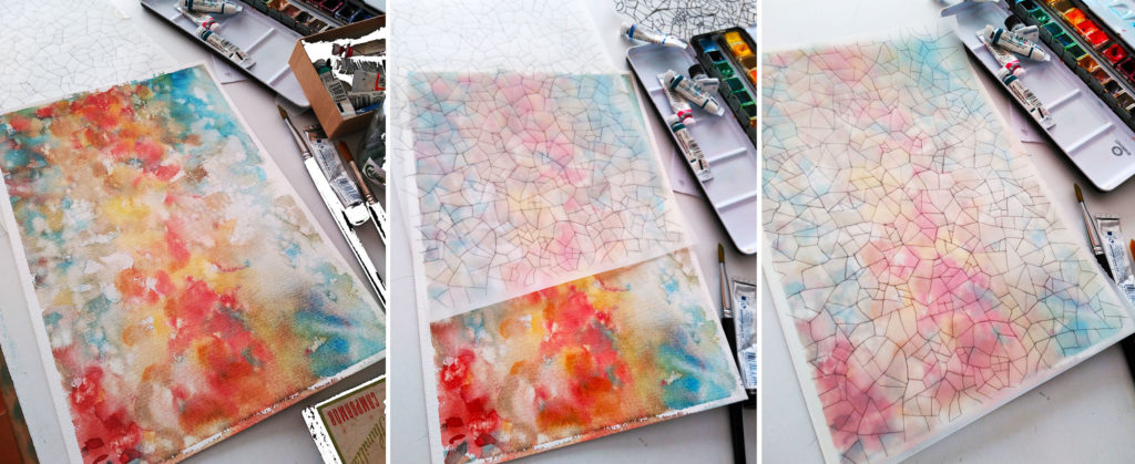 Artistic process to design the Gaudi Palau Guell Silk Scarf - Daba Disseny Barcelona
