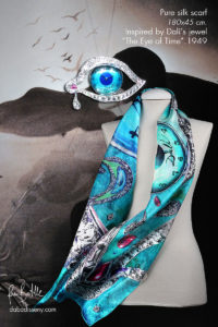 dalí s jewels on silk scarves luxury set daba disseny barcelona