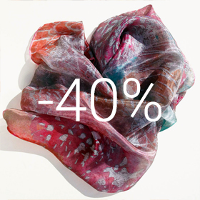 Purple silk scarf 40% off